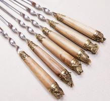 Шампура с деревянной ручкой подарочные ПИКНИК ОРЕХ