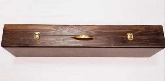 """Набор для шашлыка подарочный в деревянной коробке """"ДЕР-Х"""""""